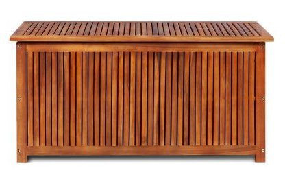 SKB Family Box Storage Deck Acacia Wood Outdoor Patio Bench Garden Pool Container Bin Seat Furniture Chest Weather by SKB family (Image #2)