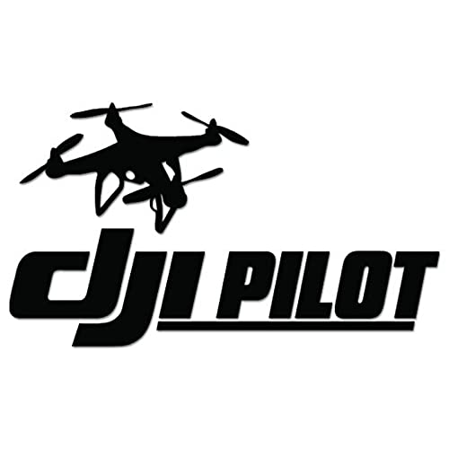 Dji pilot drone vinyl decal sticker for vehicle car truck window bumper wall decor 8 inch 20 cm wide gloss white color