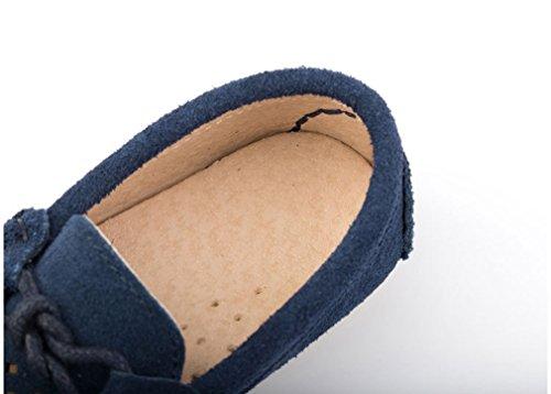 KVbaby Slip-on Wildleder Loafers Mokassin Für Jungen und Mädchen Kinder Mokassin Comfort Oxford Freizeitschuhe Halbschuhe Dunkelblau1