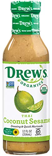 Drew's Organics Thai Coconut Sesame Dressing & Marinade, 12 fl. oz (Best Thai Salad Dressing)