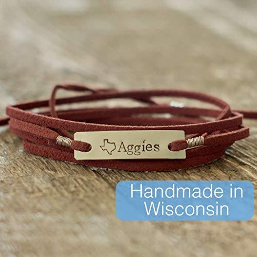 - Red Texas A&M Aggies Bracelet on Nickel Metal