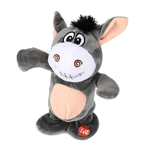 (KpopBaby Novelty Adorable Interesting Speak Talking Record Walk Donkey Plush Kids Toys)