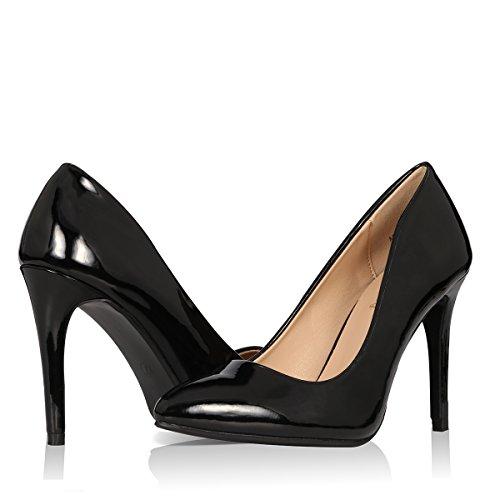 Yeviavy Women's High Heels Pumps Dress Pointed Toe Stiletto Fashion Classic Shoes Milla Black Patent (Pointy Toe Women Dress Pump)