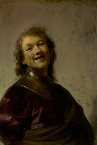 """ArtParisienne Rembrandt Laughing by Rembrandt Harmenszoon Van Rijn Wall Decal, 48"""" H x 32"""" W"""