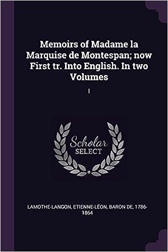 Memoirs of Madame la Marquise de Montespan — Volume 3