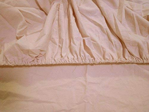Meaning4 Cotton Flat and Fitted Sheet Set with Pom Poms Light Pink King Size 2 Pieces