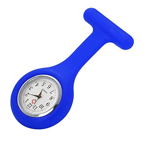 Pocket Pods Trunk Storage - Respctful✿Nurse Watch Brooch Clip Fob Silicone Pocket Clock for Health Care Nurse Doctor Paramedic Medical Watch Blue