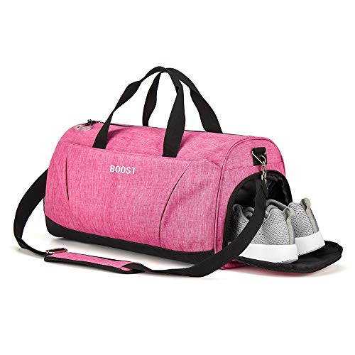 Sports Gym Bag with Shoes Compartment for Women & Men by Boost