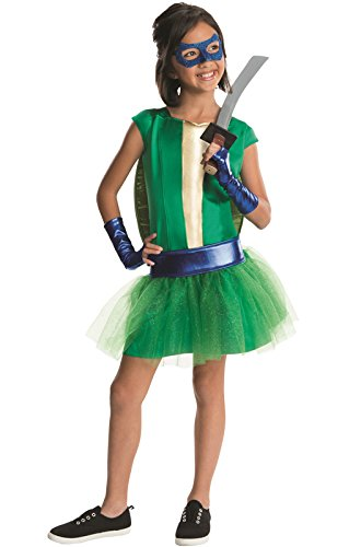 (Rubies Teenage Mutant Ninja Turtles Deluxe Leonardo Tutu Dress Costume, Child)