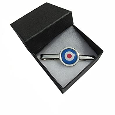962d34a93a7c Handmade MOD Target Logo Design - RAF Themed - Silver Plated Tie Pin Slide  - Gift Boxed: Amazon.co.uk: Jewellery