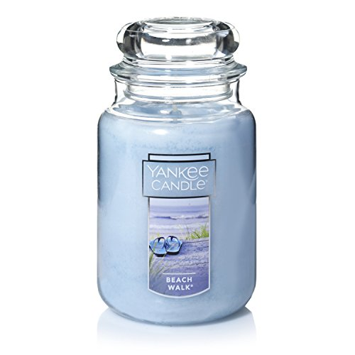 Jar Paraffin Wax Candle - Yankee Candle Large Jar Candle|Beach Walk Scented Candle|Premium Paraffin Grade Candle Wax with up to 150 Hour Burn Time
