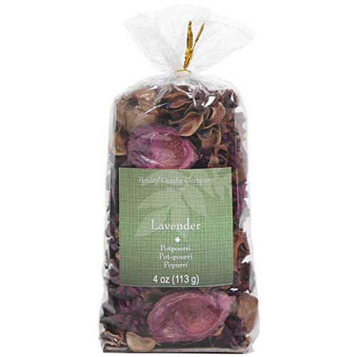 Hosley Lavender Potpourri Bag, 4 Oz. Infused with Essential Oils. Ideal Gift for Weddings, Spa, Reiki, Meditation Settings O4 ()