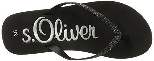 s.Oliver 27122, Sandalias para Mujer Negro (BLACK 001)