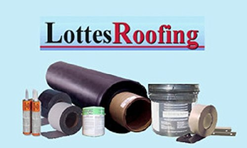 50' x 50' Commercial or Residential 60 mil Black EPDM Roofing Kit