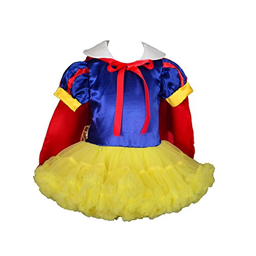 Snow White Toddler Dress (Dressy Daisy Girls' Snow White Princess Costume Fancy Dresses With Cape Size 3T Multicoloured)