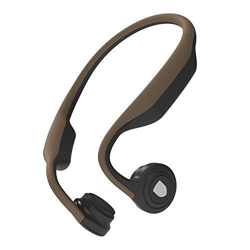 Aiko Sound Bone Conduction Wireless Bluetooth Open Ear Sport Headphones Model S - Coffee