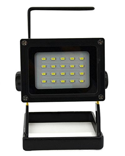 WindFire Durable Waterproof Emergency Light Trouble Light 20 leds 30W 2400LM CREE XM-L LED Flood Search Light - Portable Rechargeable Cordless Work Light w/ Stand 3 X 18650 Battery Powered (Included) IP65 Weather Resistant Flood Spot Working Light Lamp Fl by WindFire