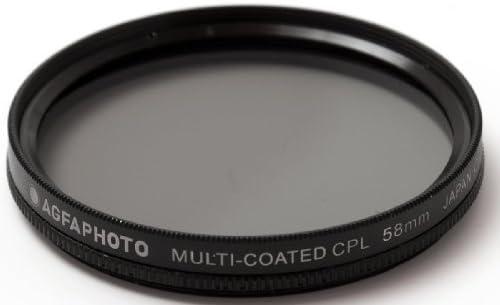 Multicoated Circular Polarizer C-PL 58mm For Olympus EVOLT E-30 Multithreaded Glass Filter