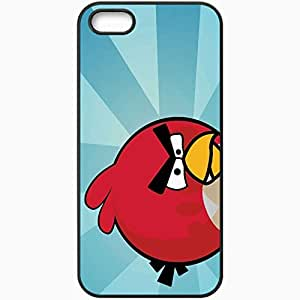 Personalized iPhone 5 5S Cell phone Case/Cover Skin Angry Birds Black