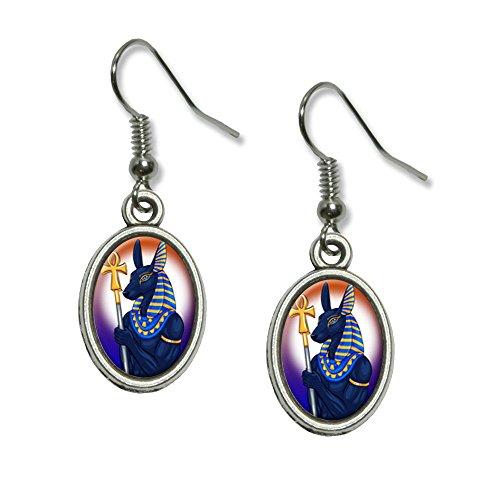 Anubis - Egyptian God Egypt Mythological Novelty Dangling Drop Oval Charm (Egyptian God Set Costume)