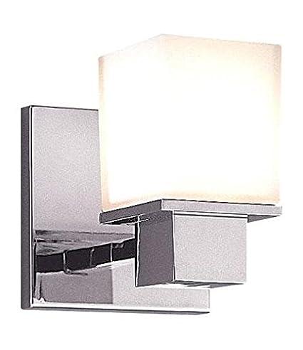 Amazon.com: Cromo pulido Milford 1 luz baño – Aplique de ...