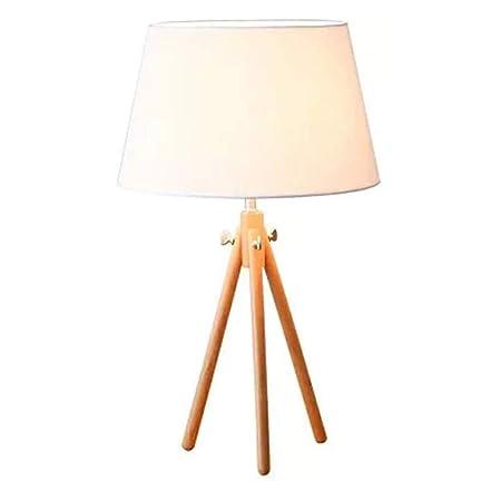 CAODANDE Lámpara de mesa Jue simple nórdica escritorio de madera ...