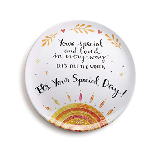 DEMDACO You're Special Melamine Giving Plate, - Plate Your Special Day Is Today