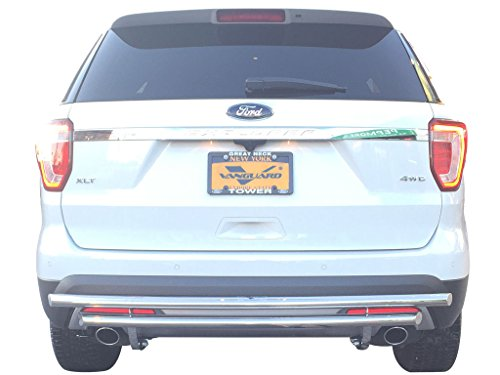 VANGUARD Off Road VGRBG-1031SS For Ford Explorer 2011-2018 Rear Bumper Guard Stainless Steel Double Layer Style