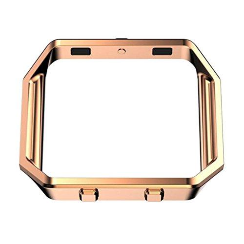 MagiDeal Cubierta Tapa Metálica Accesorios Teléfono Reloj Inteligente Móvil Duradero Flexible Ajustable Cómodo de Usar Llevar Compacto Ligero Acero de Repuesto - Plata Rosa