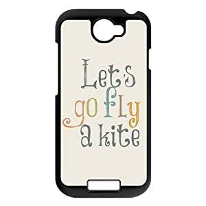 Life Quotes Let's go fly a kite picture black plastic case For HTC ONE S
