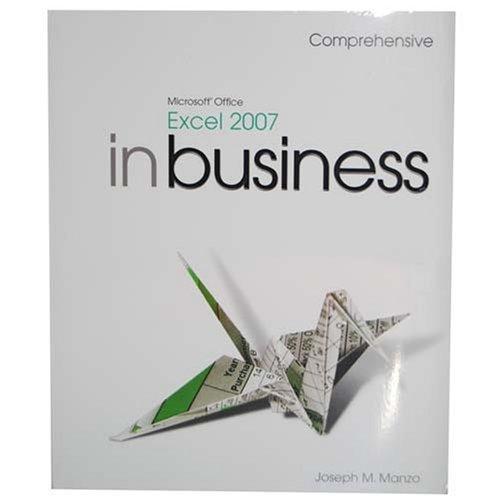 Microsoft Excel 2007: Comprehensive