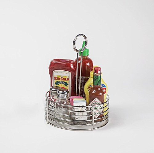 G.E.T. Enterprises Round Stainless Steel Condiment Caddy