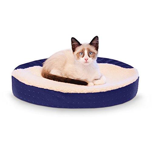 K&H Pet Products Ultra Memory Oval Cuddle Nest Memory Foam Pet Bed Blue 13
