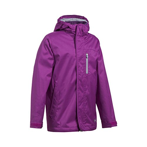 Under Armour Girls' ColdGear Infrared Gemma 3-in-1 Jacket, Purple Rave/Overcast Gray, Youth Large by Under Armour