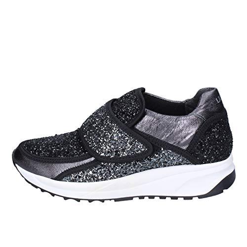 Mujer Jo Negro Sneakers Glitter Liu gwz7dBqE7