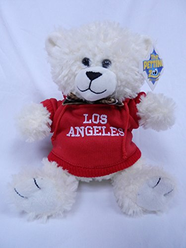 "The Petting Zoo 8"" Los Angeles Red Hooded Sweatshirt White Bear"