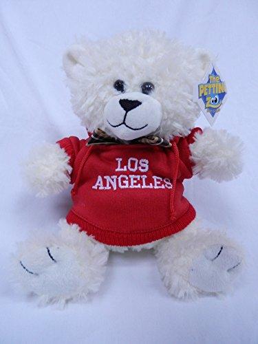 "The Petting Zoo 8"" Los Angeles Red Hooded Sweatshirt White Bear"