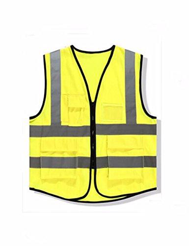 Qpggp Essenziale Fluorescente Di Macchina Libero verde Sicurezza Verde Giubbotto Fluorescente Riflettente volontario Il 0IqRw04rFx