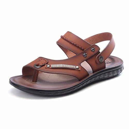 Sommer Das neue Strandschuhe Männer Jugend Persönlichkeit Männer Freizeit Männer Sandalen Flip Flops Trend ,braun1,US=6.5?UK=6,EU=39 1/3?CN=39