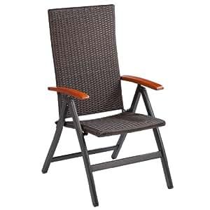 Ultranatura palma silla plegable de polirat n con for Sillas jardin amazon