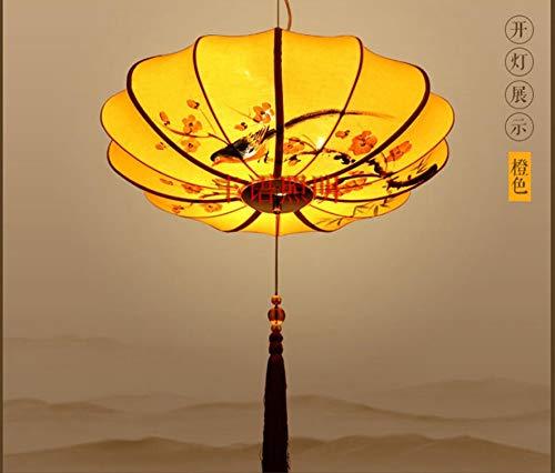Tipo de fuente de luz: E27 (no incluido) Fuente de luz: sin fuente de luz [voltaje] 90v-260v (trabajamos con su país) Tamaño Diámetro 40/50/60/70/80 CM seleccionable B07J653NVW 60cm|Orange Orange 60cm