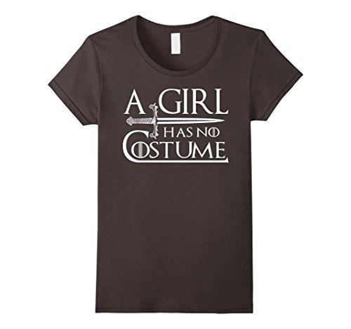 Womens A Girl Has No Costume Tee Large Asphalt -