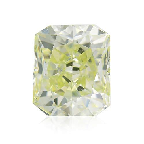 Leibish & Co 0.80 Carat Light Green Yellow Loose Diamond Natural Color Radiant Cut GIA Cert