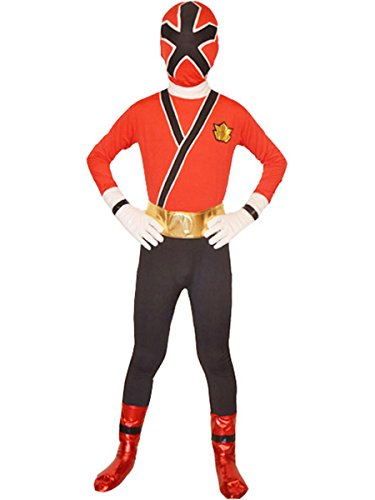 [Wraith of East Power Rangers Costume Kids Cosplay Halloween Spandex Zentai S Red] (Red Halloween Kids Costumes)