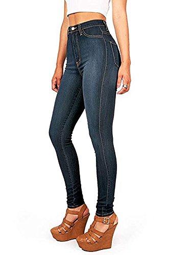 Mujer Blue Vaqueros Women para LuShmily Dark Jeans zgq1WR