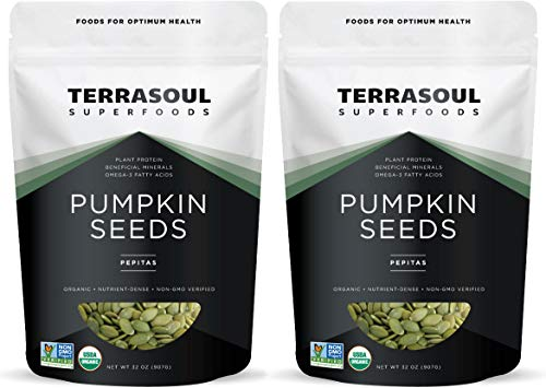 Terrasoul Superfoods Organic Pumpkin Seeds, 4 Lbs - Premium Quality | Fresh | Raw | Unsalted
