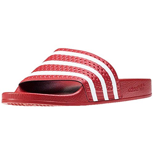 adidas Adilette, Men's Beach & Pool Shoes Multicolored (Red)