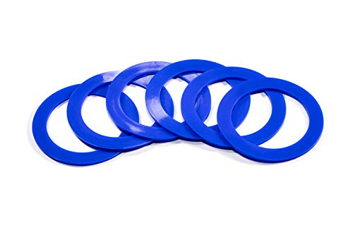 Silicone replacement gasket seals Wide mouth rings (Blue) Pack of 6 ()