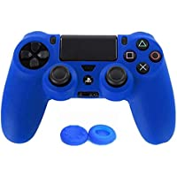 Soft Silicone Rubber Gel Skin Case Cover for PlayStation 4 Controller + 2PCS Thumbstick Sticker