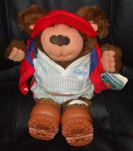 Hank Spitball Furskins Xavier Roberts Baseball Bear for sale  Delivered anywhere in USA